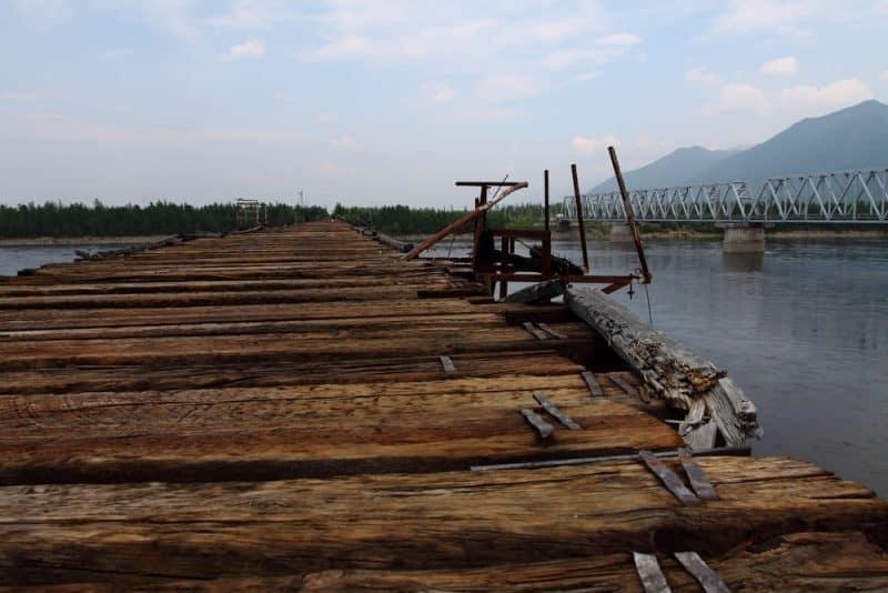 Los puentes más peligrosos - Puente del río Vitim