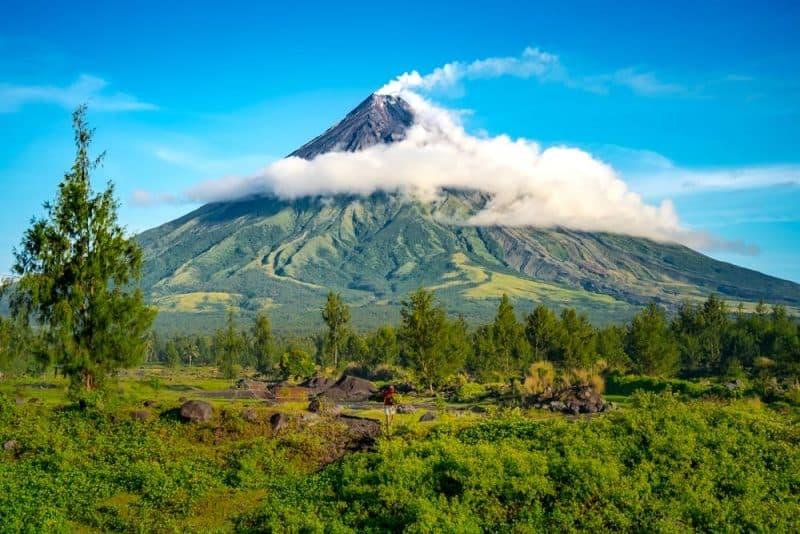 Los volcanes más impresionantes - volcán Mayon