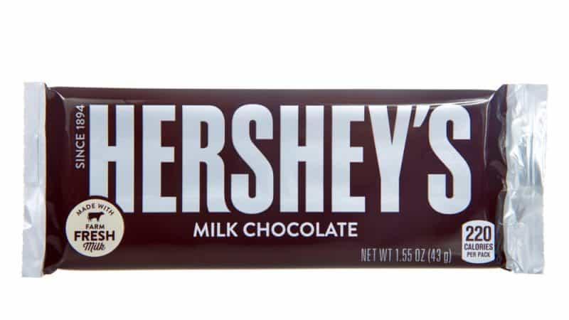 El dulce más popular para pedir dulces: barra de chocolate con leche de Hershey