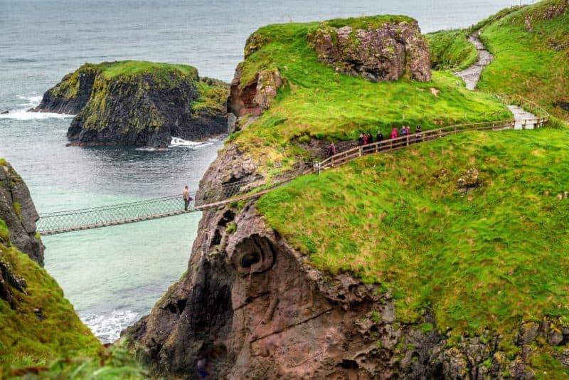 Los puentes más peligrosos: puente de cuerda Carrick-A-Rede