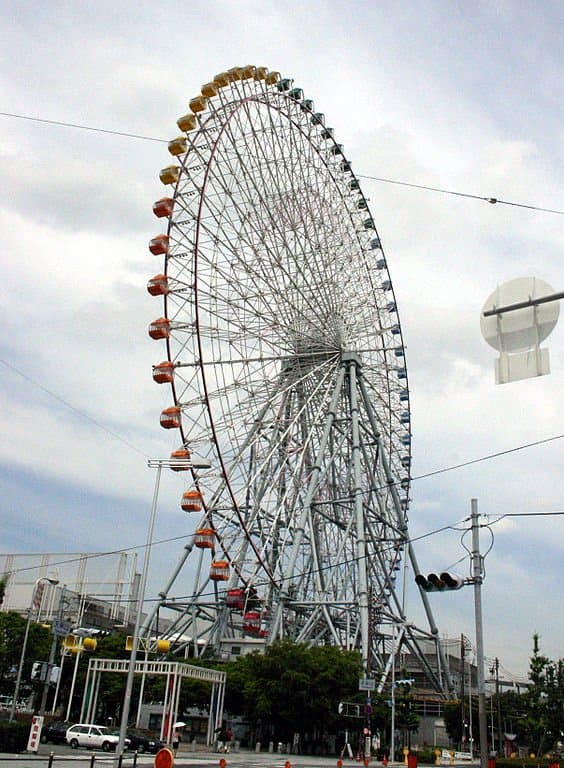 Las mejores ruedas de la fortuna: Tempozan Ferris Wheel, Japón
