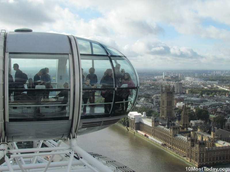 Palacio de Westminster desde el London Eye, Inglaterra