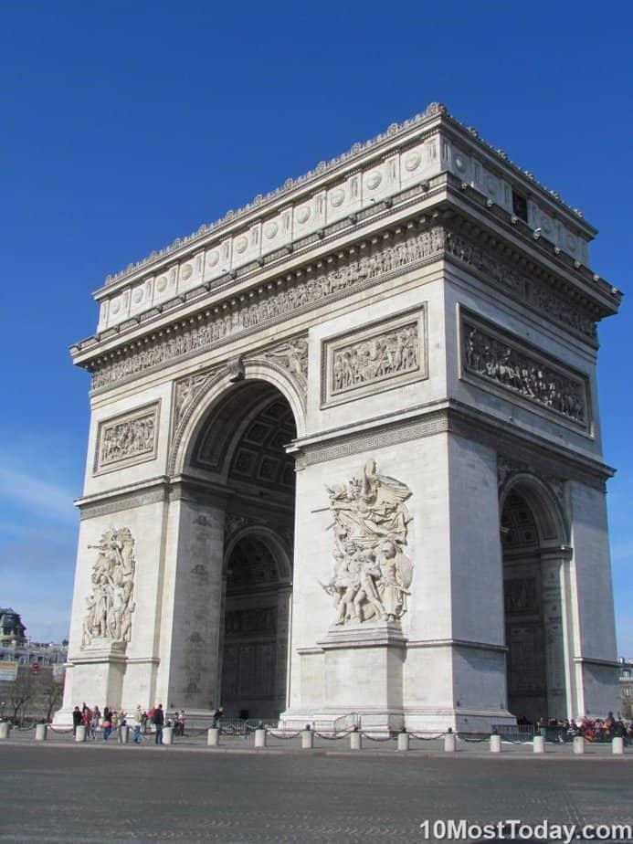 Principales atracciones de París: Arc de Triomphe