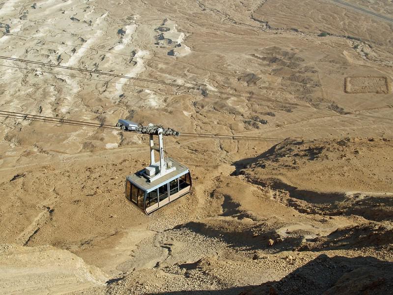 Monte Masada, cerca del Mar Muerto: los ascensores más increíbles