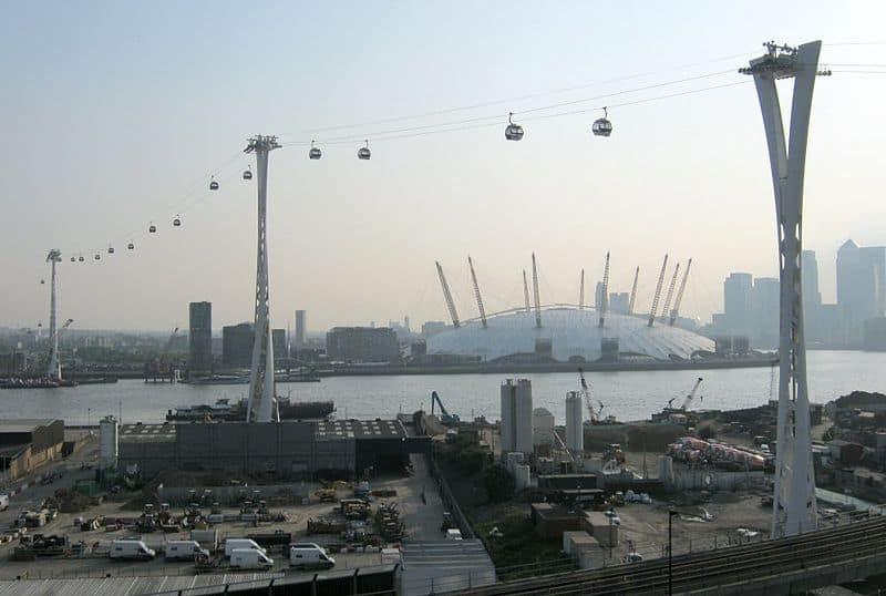Emirates Air Line, Londres, Inglaterra: los ascensores de coches más increíbles