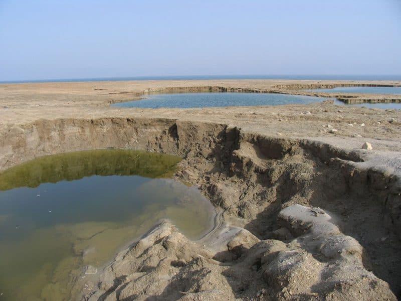 Sumideros en el Mar Muerto, Israel