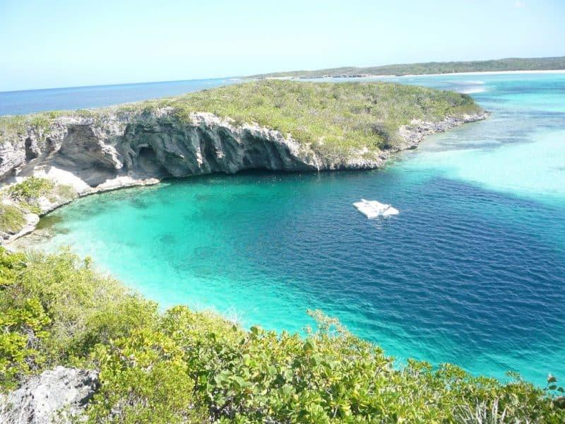 Los sumideros más increíbles: Dean's Blue Hole, Bahamas