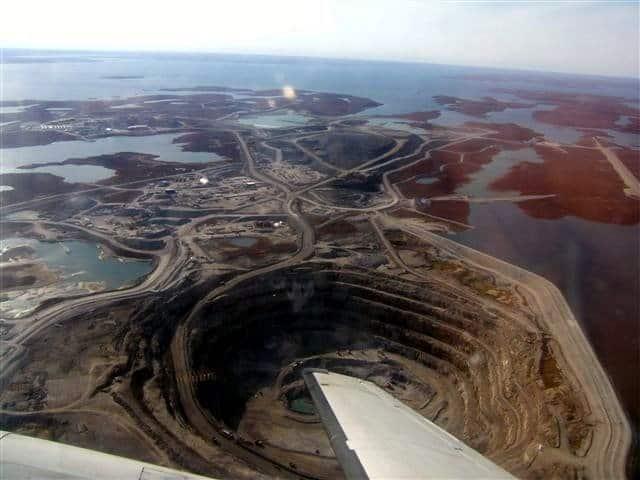 Mina de diamantes Diavik, Canadá (Fuente: Wiki)