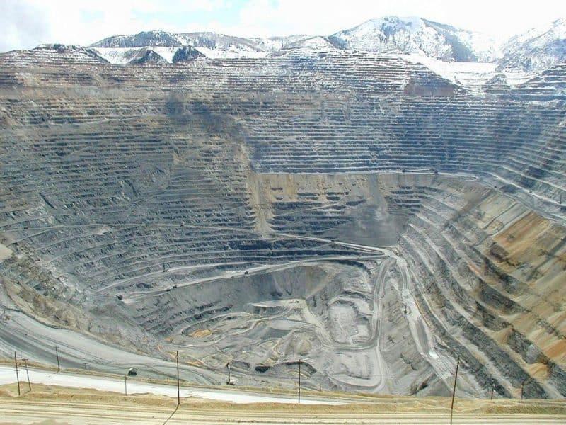 Las minas a cielo abierto más increíbles: mina Bingham Canyon (Fuente: Wiki)