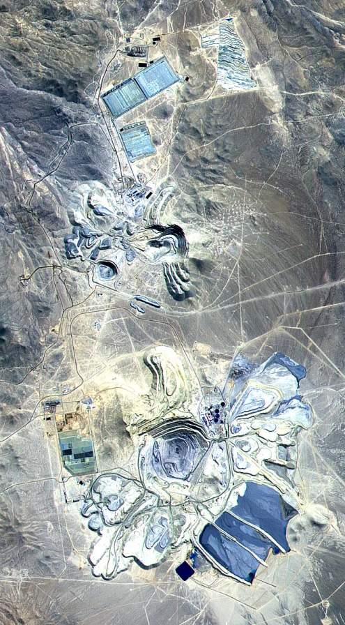 Las minas a cielo abierto más increíbles: Mina Escondida, Chile (Fuente: Wiki)