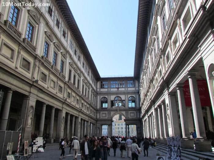 La Galería de los Uffizi, Florencia